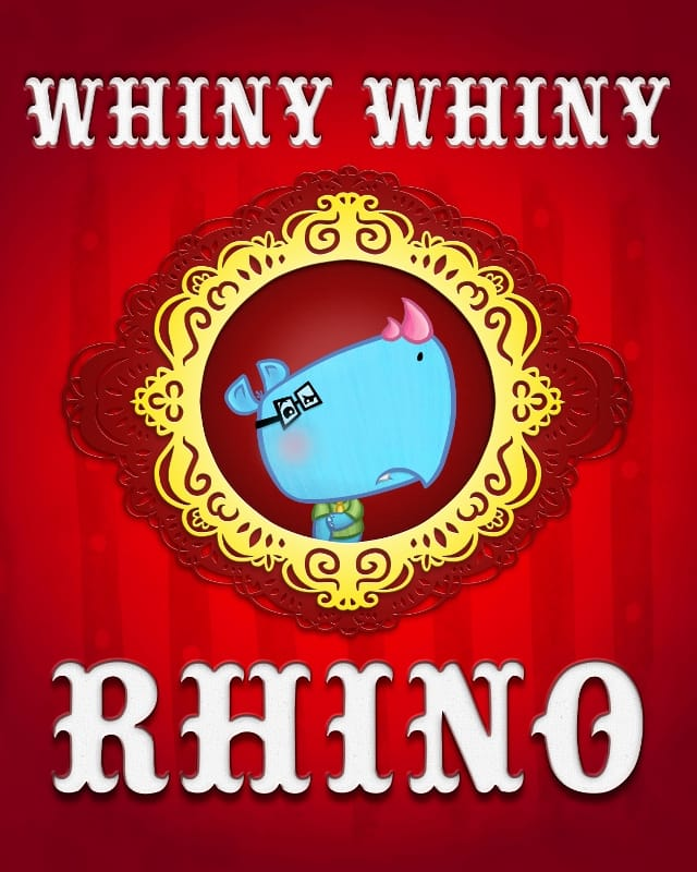 Whiny Whiny Rhino by McBoop